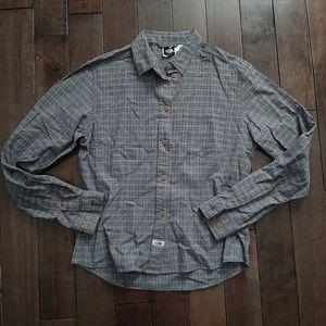 The North Face Plaid Button Up Shirt Medium